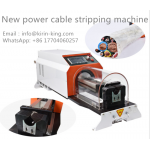 Rotating blades stripping machine for big battery cables