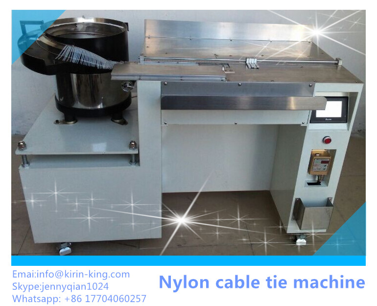 Nylon Cable Tie Locking and Cutting Machine