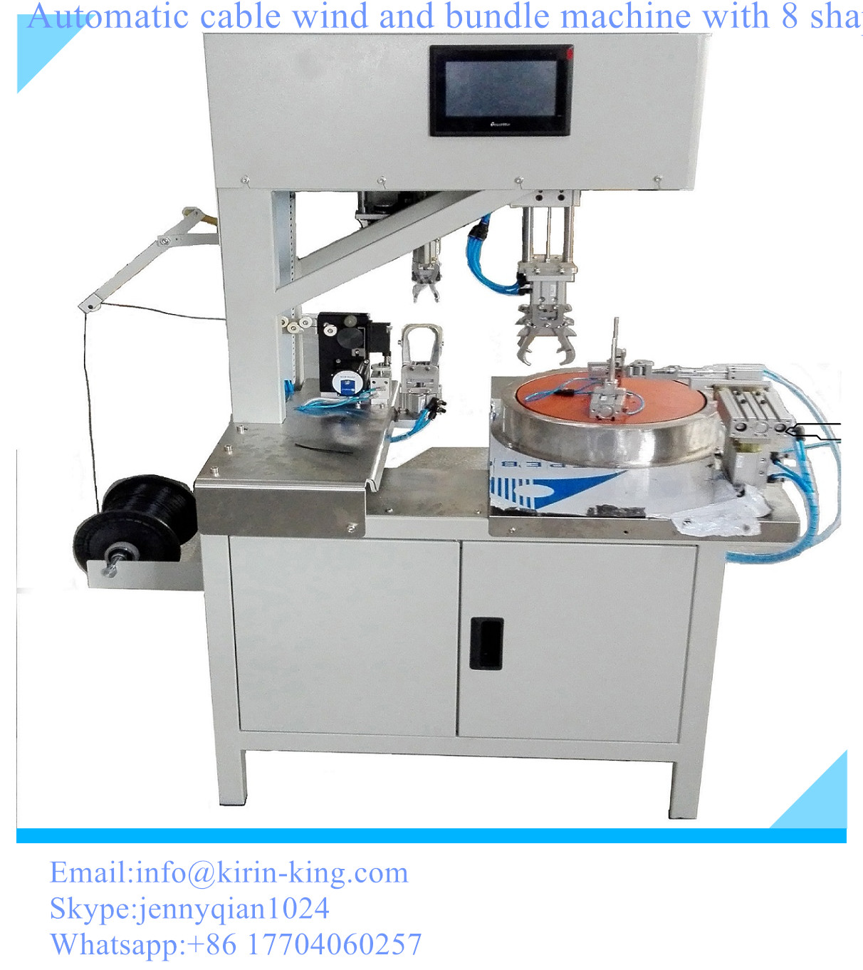 Fully-auto Winding and Tying Machine with 8 shape